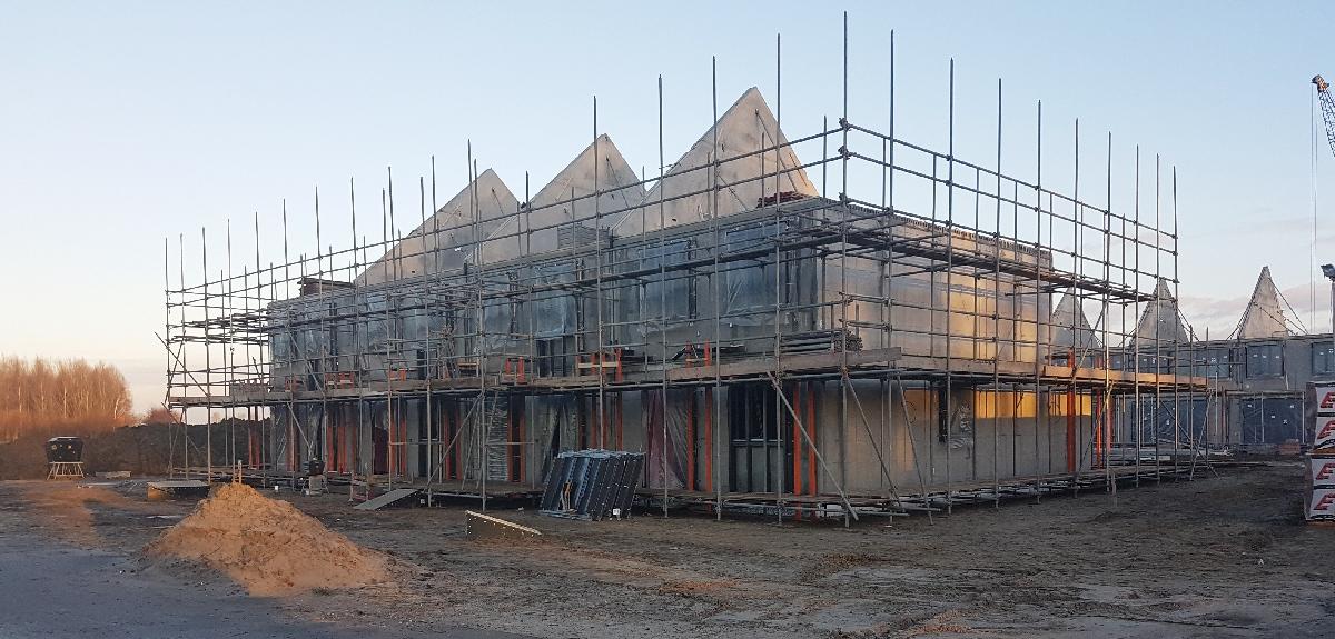De bouw loopt voorspoedig